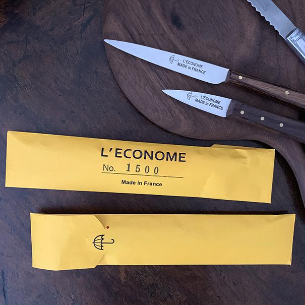 レコノム(L'econome)のナイフとパッケージ