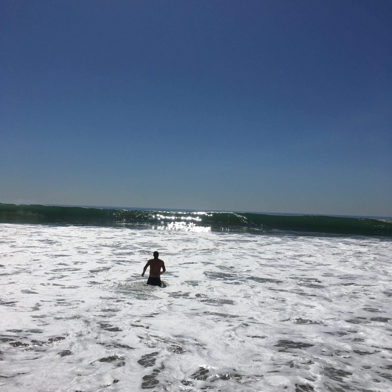 A man at El Matador State Beach, Photo by Sooim Kim