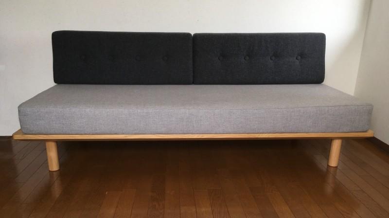 ボーエ・モーエンセン化が完了した無印のソファベッド
