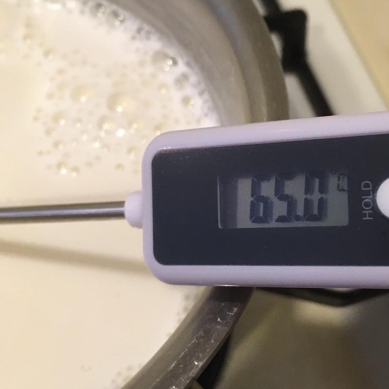 生姜ミルクプリンの掟:ミルクは65度以上にするべからず