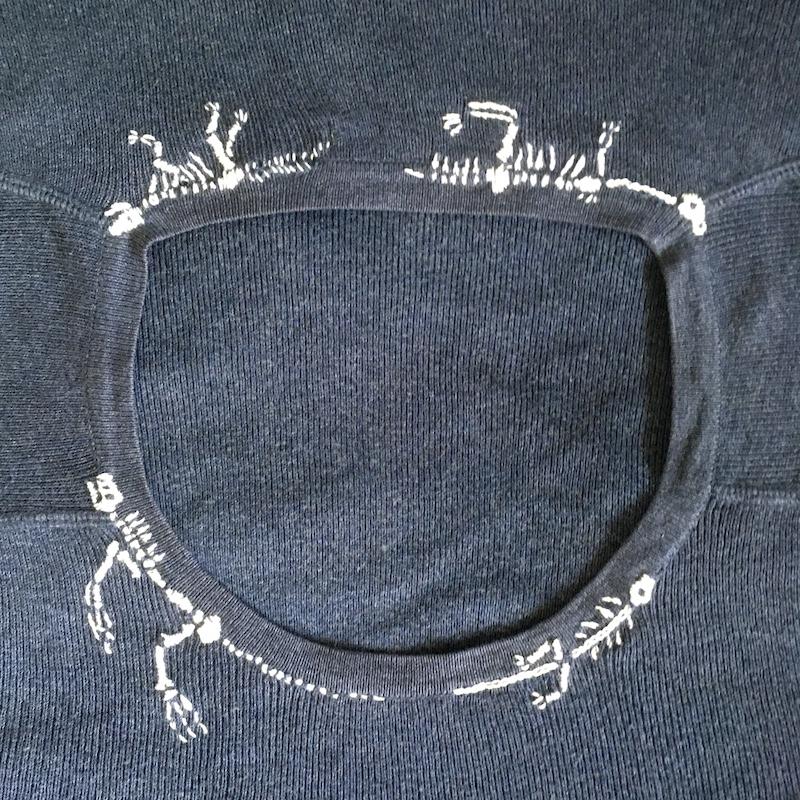刺繍で直す:恐竜刺しゅう