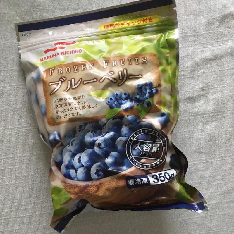 冷凍のブルーベリー
